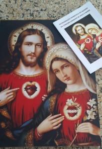 Entronização Quadro Dois Corações